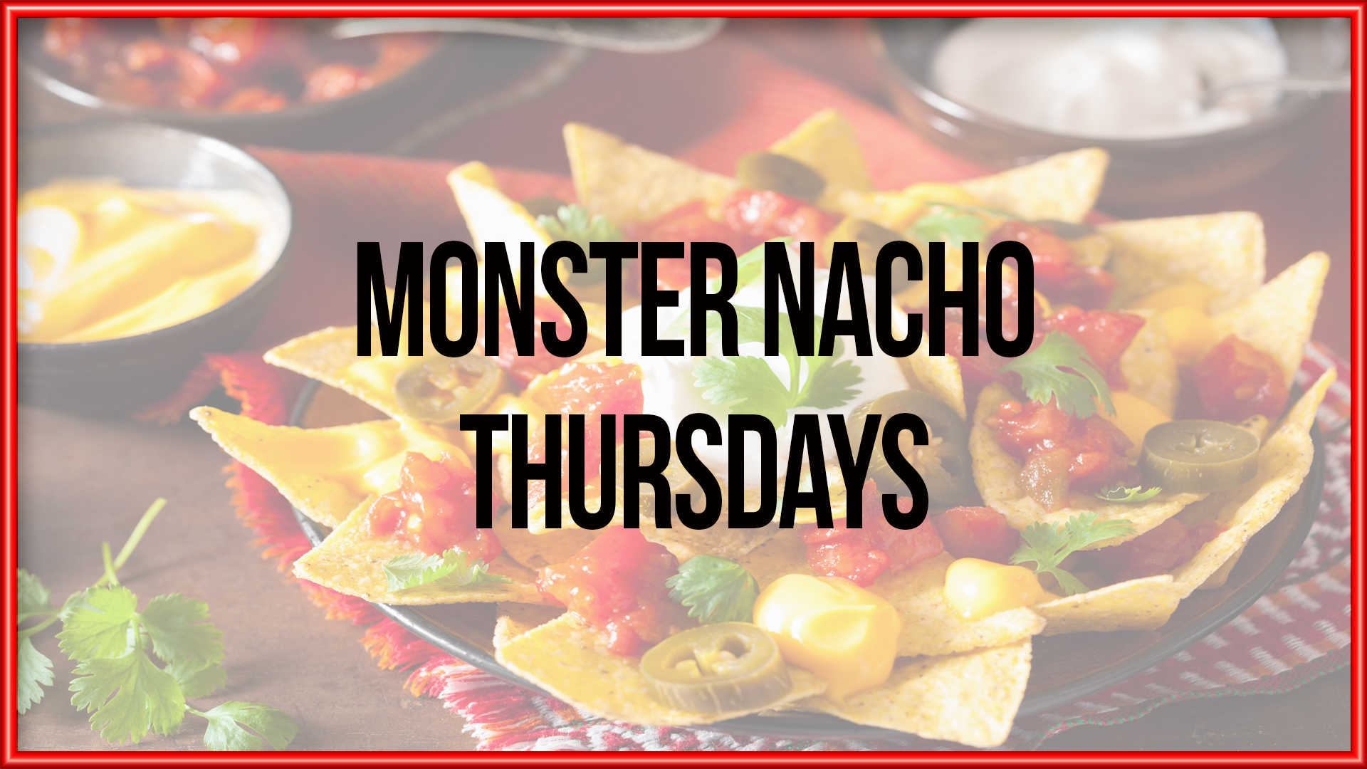 Monster Nacho Lunch Special